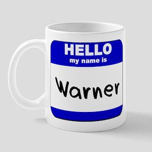hello my name is warner  Mug