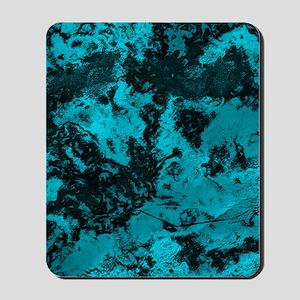 Marble Galaxy Flip Flops (Cyan) Mousepad