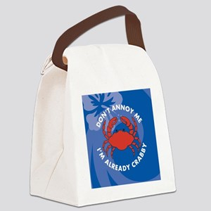 Dont Annoy Me Round Compact Mirro Canvas Lunch Bag