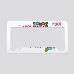 Hoot Owls License Plate Holder