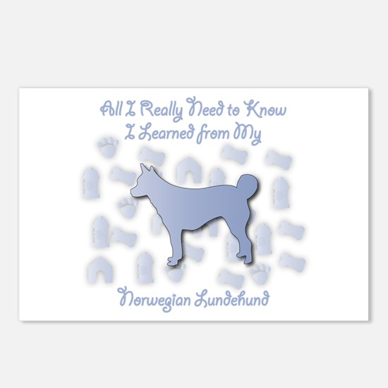 Learned Lundehund Postcards (Package of 8)