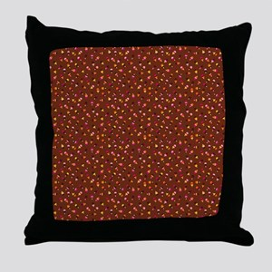 Popsicles Shower Curtain (Brown) Throw Pillow