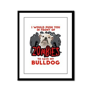 Bulldog - I Would Push You In F Framed Panel Print