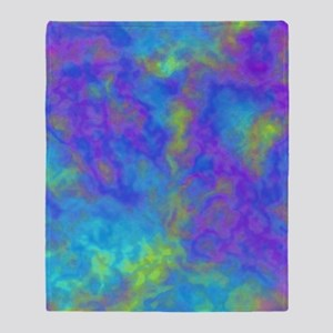 Psychedelic Mushrooms Effects Throw Blanket