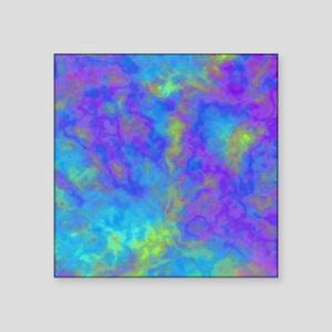 "Psychedelic Mushrooms Effec Square Sticker 3"" x 3"""