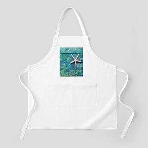Starfish and Turquoise Seashore Apron