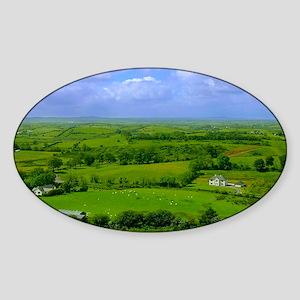 Ireland Green Pastures Photo Sticker (Oval)