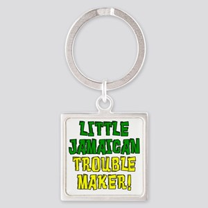 Little Jamaican Troulbe Maker Square Keychain
