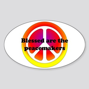 Peacemakers Oval Sticker