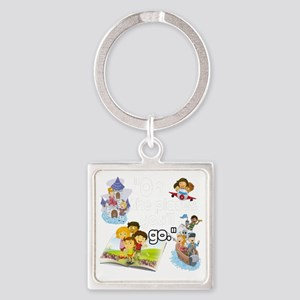 Oh the Places BL Square Keychain