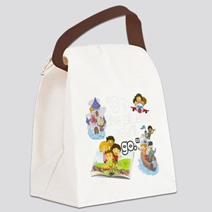 Oh the Places BL Canvas Lunch Bag