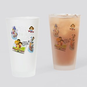 Oh the Places BL Drinking Glass