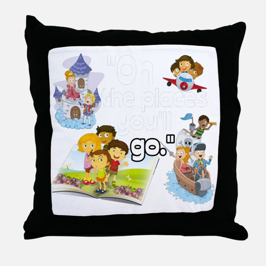 Oh the Places BL Throw Pillow
