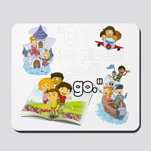 Oh the Places BL Mousepad