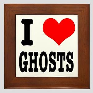 I Heart (Love) Ghosts Framed Tile