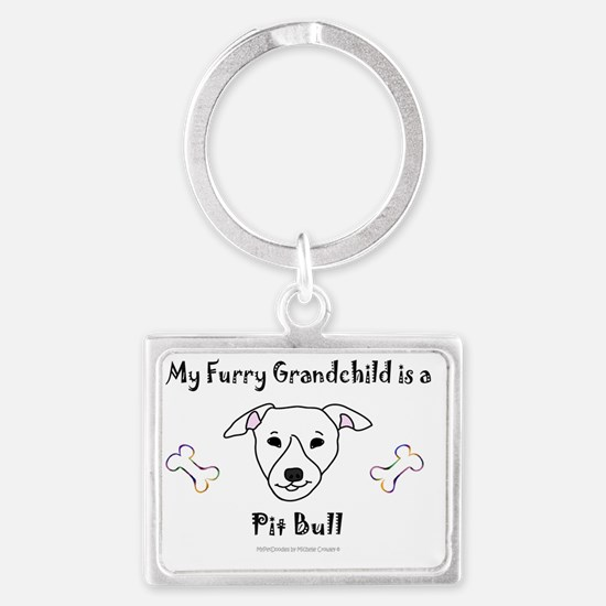 pit bull Landscape Keychain