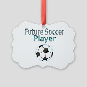 Future Soccer Player Picture Ornament