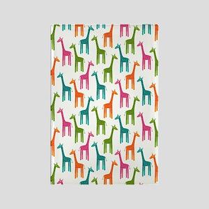 Giraffes Flip Flops Rectangle Magnet