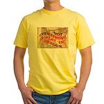 Flat Oregon Yellow T-Shirt