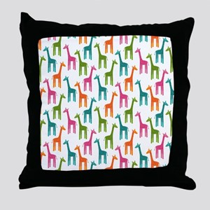 Giraffes Flip Flops Throw Pillow