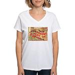 Flat Oregon Women's V-Neck T-Shirt