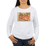 Flat Oregon Women's Long Sleeve T-Shirt