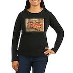 Flat Oregon Women's Long Sleeve Dark T-Shirt