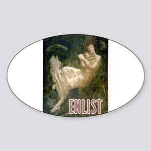 Enlist - Fred Spear - Circa 1915 - Poster Sticker