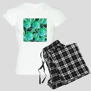 Emerald Satin Dreams Women's Light Pajamas