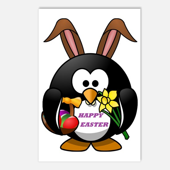 HAPPY EASTER PENGUIN BUNN Postcards (Package of 8)