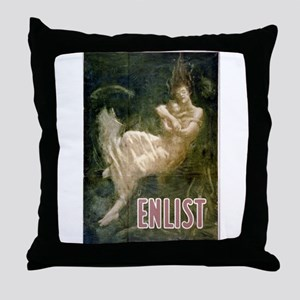 Enlist - Fred Spear - Circa 1915 - Poster Throw Pi