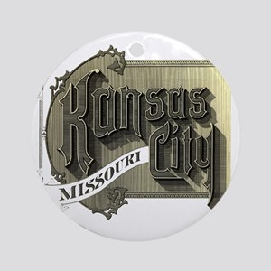Kansas City Missouri Round Ornament