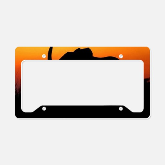 Elephant at Sunset License Plate Holder