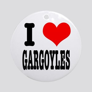 I Heart (Love) Gargoyles Ornament (Round)