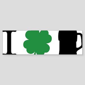 irishCityPint1B Sticker (Bumper)
