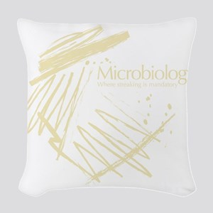 Microbiology Woven Throw Pillow
