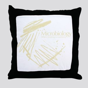 Microbiology Throw Pillow