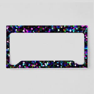 Glitter Graphic Background License Plate Holder
