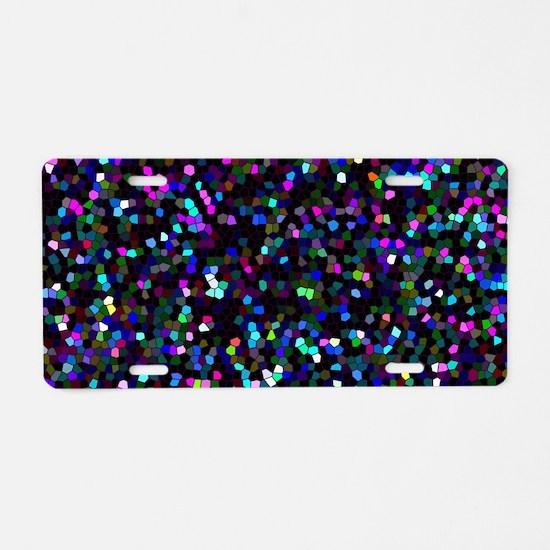 Glitter Graphic Background Aluminum License Plate
