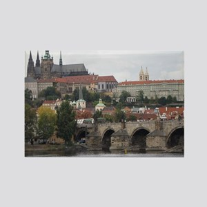 Prague's Charles bridge Rectangle Magnet