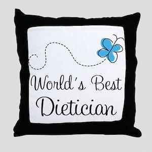 Dietician (World's Best) Throw Pillow
