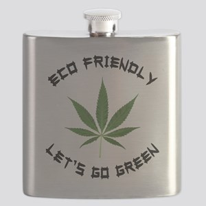 Eco Friendly Lets Go Green Flask