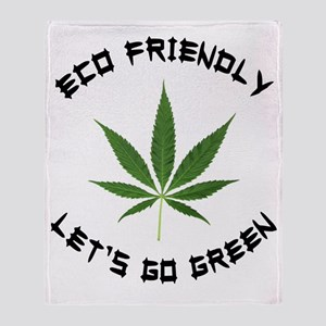 Eco Friendly Lets Go Green Throw Blanket