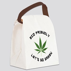 Eco Friendly Lets Go Green Canvas Lunch Bag