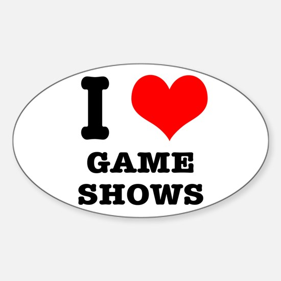 I Heart (Love) Game Shows Oval Decal