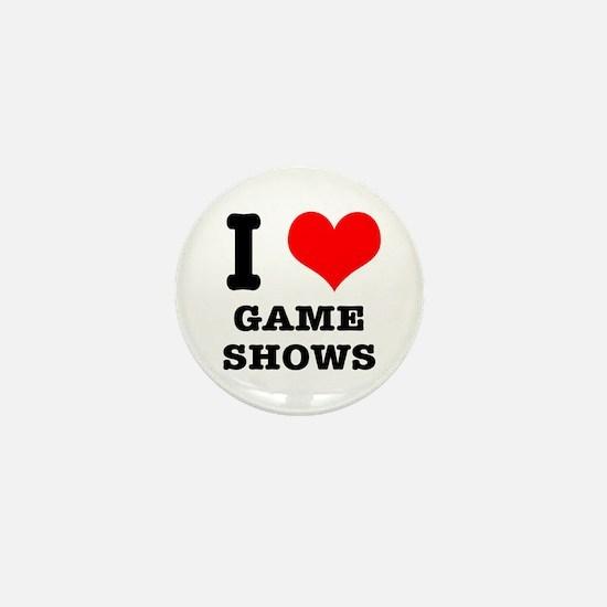 I Heart (Love) Game Shows Mini Button