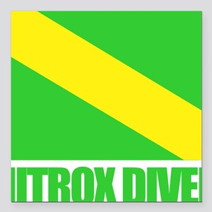 "Nitrox Diver Square Car Magnet 3"" x 3"""