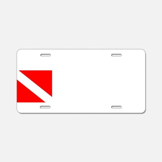 Rescue Diver 3 (white) Aluminum License Plate