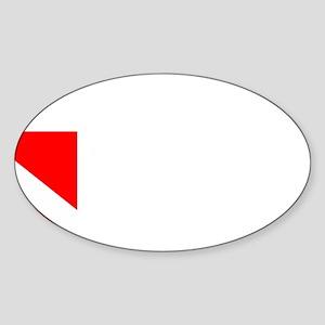 Rescue Diver 3 (white) Sticker (Oval)