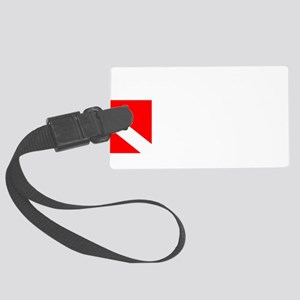 Rescue Diver 3 (white) Large Luggage Tag